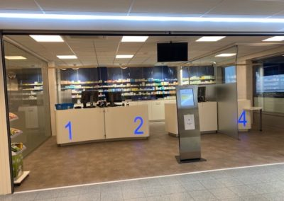 Apotheek A3, interieurinrichting, winkelinterieurbouw, apothekerswinkelinrichting, Interstorebv, Interstore interieurbouw