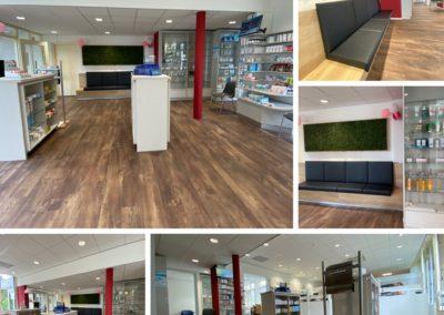 Apotheek Bergh, interieurinrichting, winkelinterieurbouw, apothekerswinkelinrichting, Interstorebv, Interstore interieurbouw