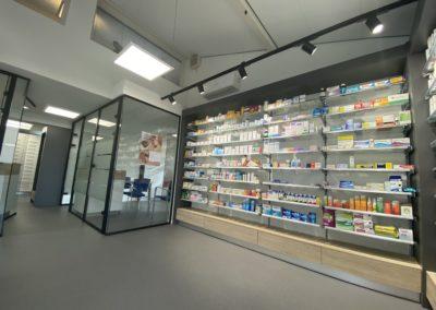 Apotheek Hopveld, interieurinrichting, winkelinterieurbouw, apothekerswinkelinrichting, Interstorebv, Interstore interieurbouw